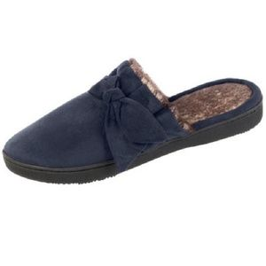 Isotoner Microsuede Scuffs Slipper Med 7.5/8 NWT